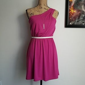 NWT One Shoulder Pretty In Pink Dress